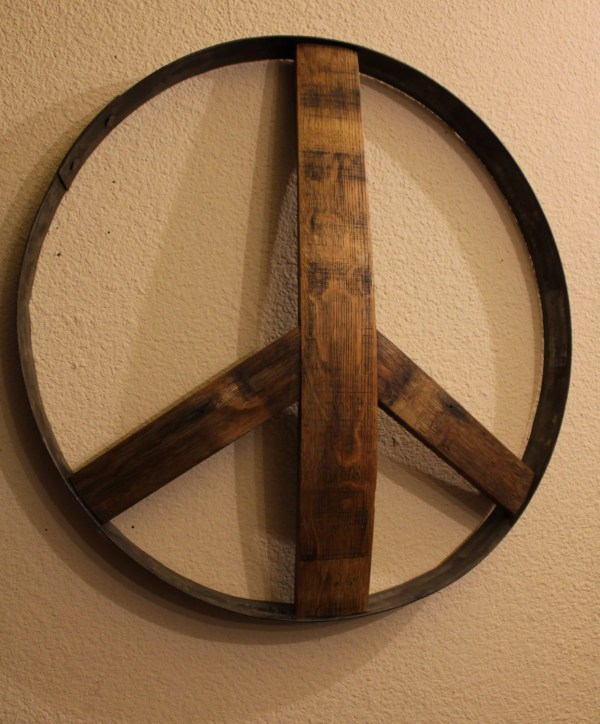 Rustic Wooden Peace Signs Handmade And Resurrected Aged