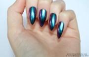 chrome nails stiletto