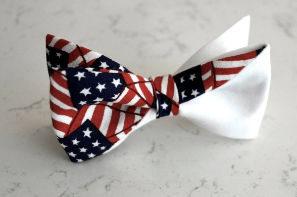 American Flag Bow Tie Kidsred White Blue