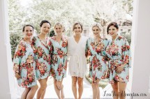 Floral Bridesmaid Robes Silk