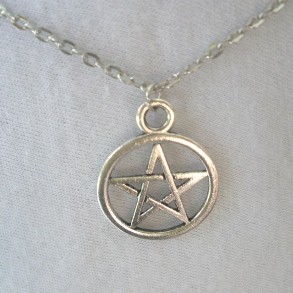 Pentacle Necklace Silver Charm