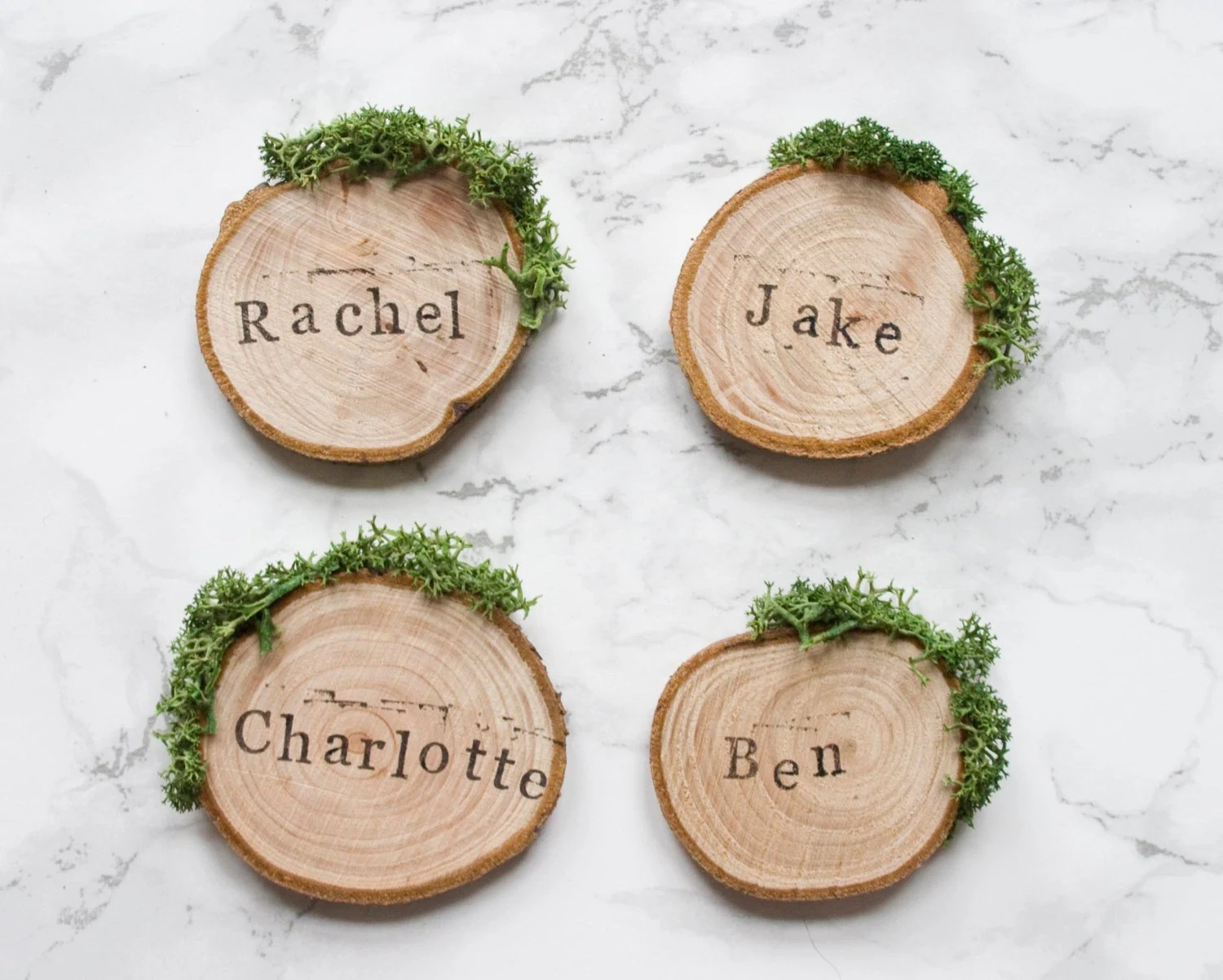 Wedding Place Cards / Rustic Place Settings / Wooden Wedding