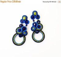 Extravagant stud earrings. Flashy stud by Soutachebypanka ...