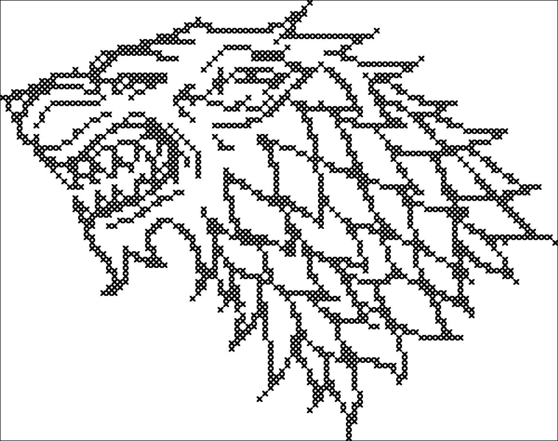 BOGO FREE Cross stitch Game of the Thrones House Stark