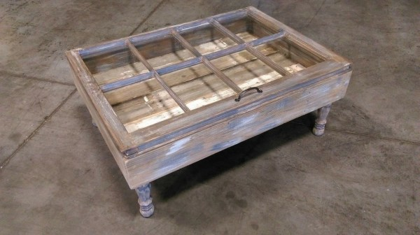 Rustic Coffee Table Beach Shadow Box