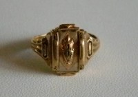 Vintage JOSTEN 1954 10K Gold Class Ring Size 5 1/2