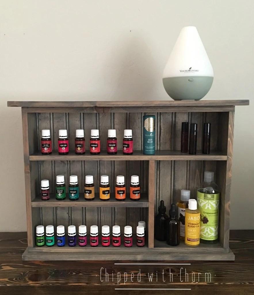 Essential Oil Storage Shelf Grey Essential Oil Wall Shelf
