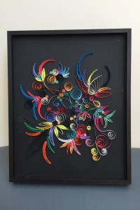 QUILLING PAPER ART: Brasil quilling-handmade wall art-color