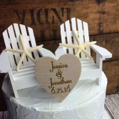 Adirondack Chair Cake Topper Gray Leather Recliner White Wedding