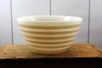 Pyrex Stripe Bowl Rainbow Stripe Mixing Bowl Tan Stripe