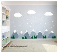 Mountain Wall Decals Wall Decals Nursery Baby Wall Decal