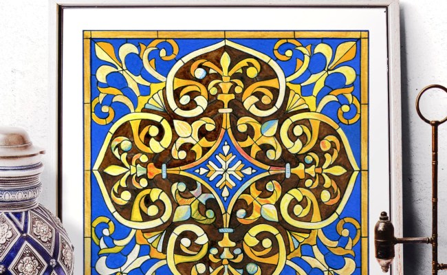 Stained Glass Art Home Decor Mosaic Tile Wall Art Moroccan