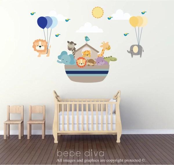 Noah' Ark Wall Decal Decals Nursery Stickers