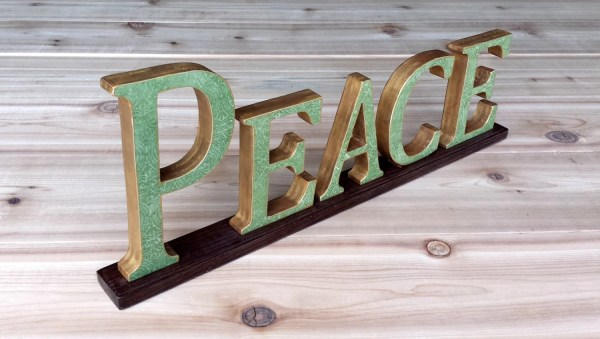 Peace Sign Wooden Word Wood Signs Art