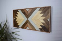 Wood Wall Art Contemporary Geometric Wood by ...