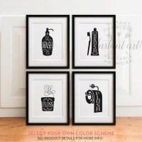 Black And White Bathroom Art Prints | www.imgkid.com - The ...