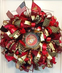 Military Wreath US Marine Corp Wreath USMC Wreath Military