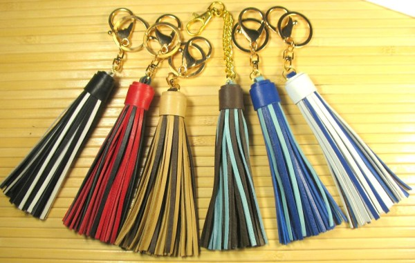 Two-tone Leather Tassels Handbags Purse Tassel Handbag