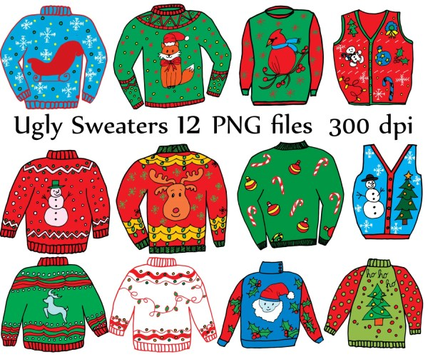"""ugly sweater clipart """"christmas"""