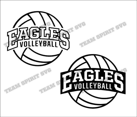 Eagles 2 Volleyball Download Files SVG DXF EPS Silhouette