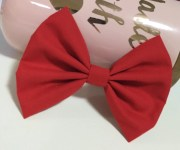big hair bow red 5 4