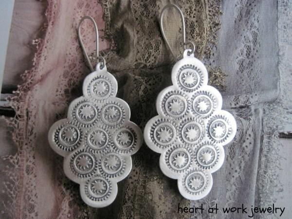 Frida Kahlo Inspired Big Lightweight Earrings Sterling Silver