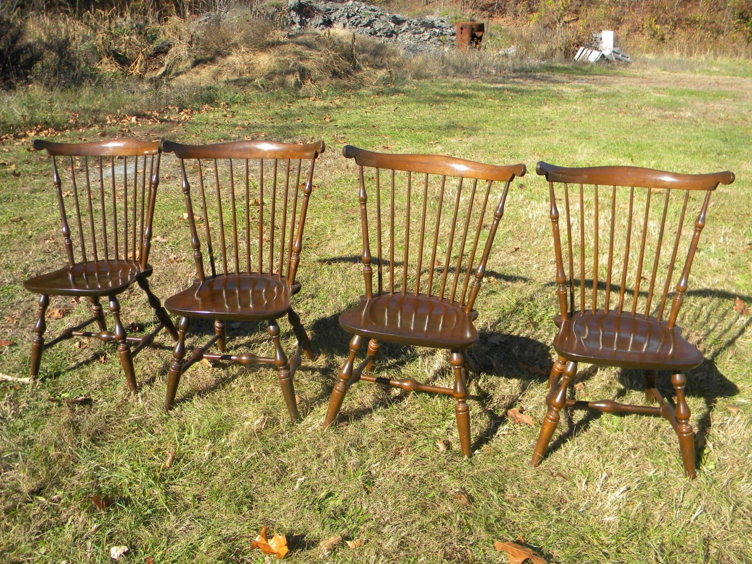 nichols and stone dining chairs best beach chair with canopy set of 4 clean vintage 1960s