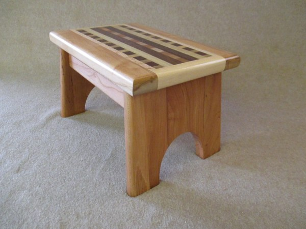 Handcrafted Solid Wood Step Stool