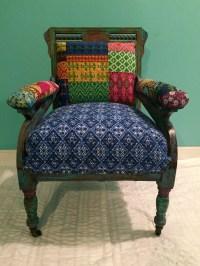 Bohemian Chair Antique Chair Vintage Chair Painted