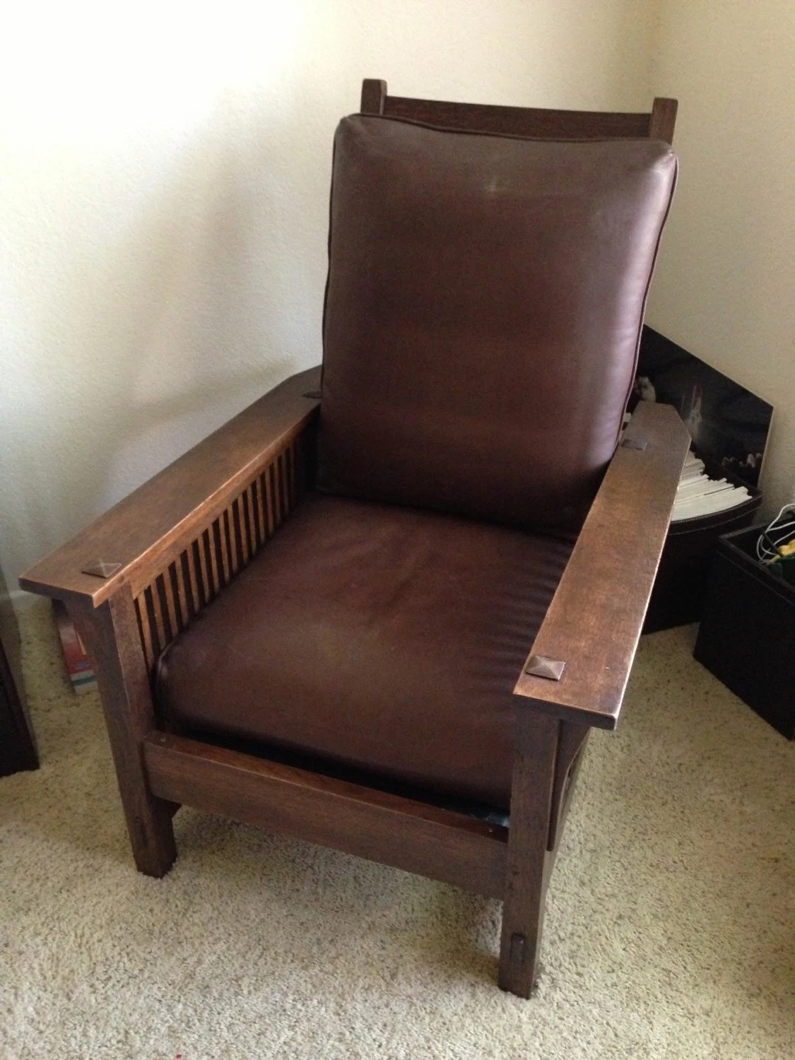 Morris Chairs Gustav Stickley Antique Morris Chair From Arts And Crafts