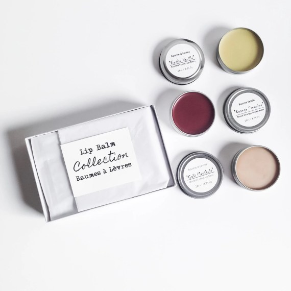 Lip Balm Collection - Lip Balm Gift Set, Gift Idea For Her, Vegan Lip Balm, Natural Organic Lip Balm, Lip Care, Lip Butter, Girlfriend Gift