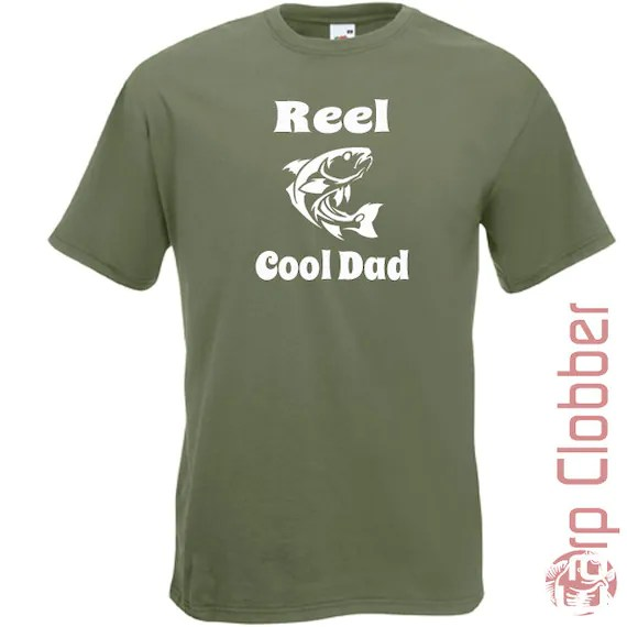 Items similar to Dad Fishing tShirt Reel Cool Quote