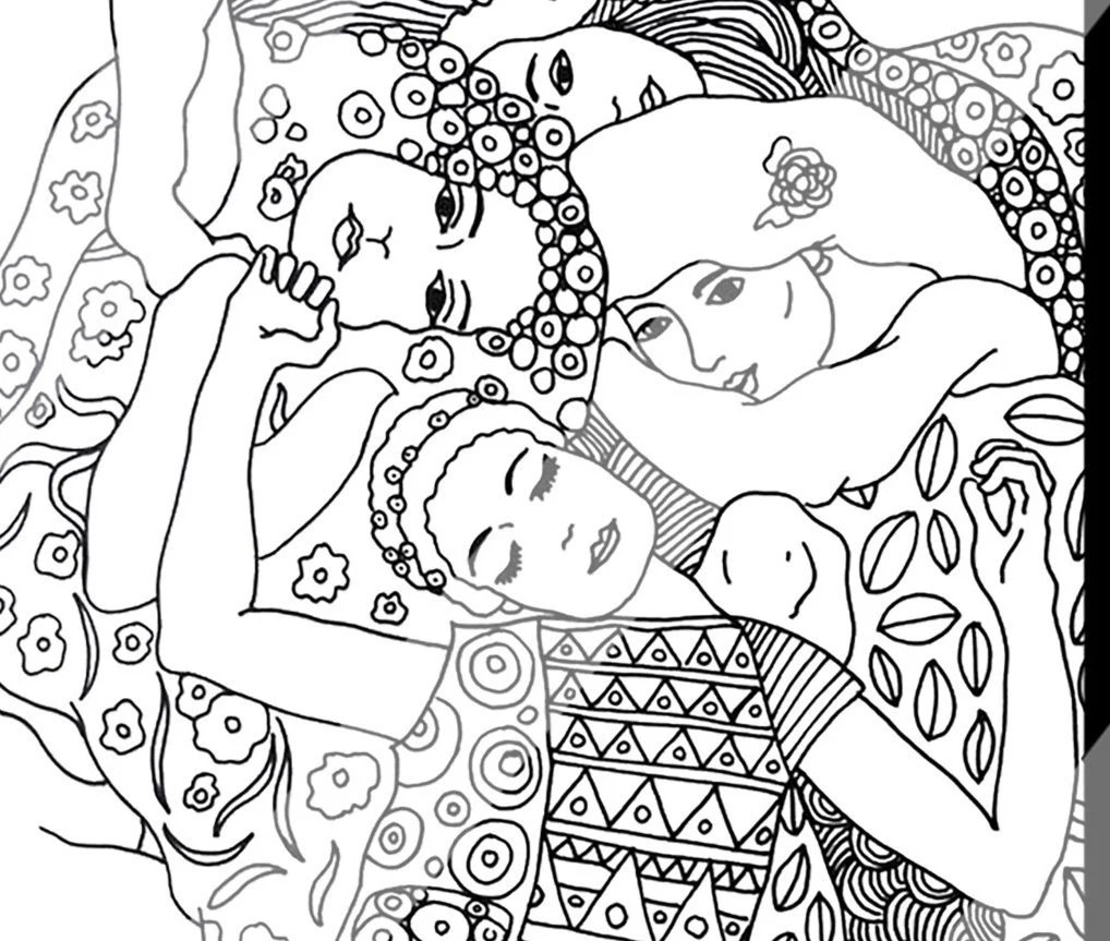 Gustav Klimt Coloring Pages for Adults Digital Procreate and