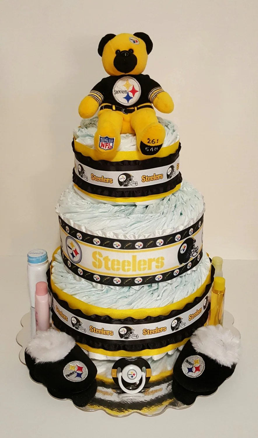 Pittsburgh Steelers Themed Diaper Cake by