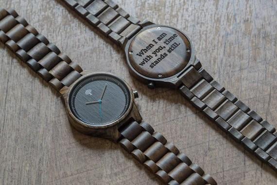 Black Wood Watch, black wood watch,mens watch,groom present, wedding, groomsmen, watch, Christmas, birthday gift, gift, anniversary, bfb