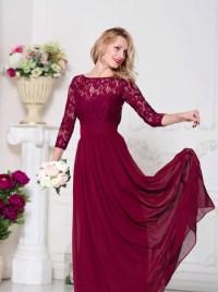 Burgundy bridesmaid dress Marsala bridesmaid by ...