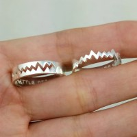 Personalized Couples Rings Promise Rings for Couples by ...