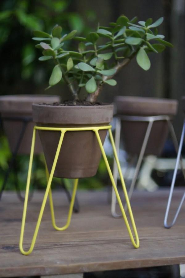 Metal Pot Stand Plants Plant Tripod Large Model