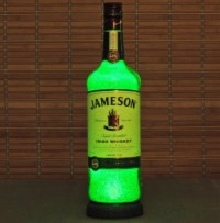 Jameson Irish Whiskey Liquor Bottle Lamp Accent Light Bar Man