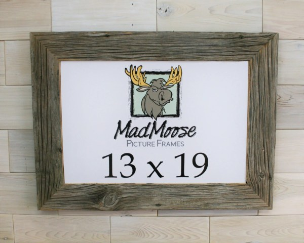 13x19 Barn Wood Chunky X 3 Frame Tags