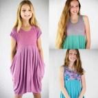 Girls Dress Pattern Sewing Tween