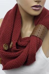 Knit Infinity Scarf Womens Knit Winter Scarves Womens Knit