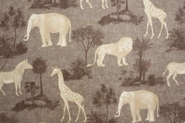 FABRIC Animal Print Jungle fabric by P Kaufmann Elephant