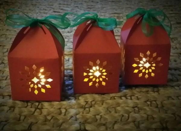 Paper Lanterns. Snowflake Lanterns. Decorative Lights.