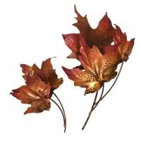 Copper Leaves Wall Art