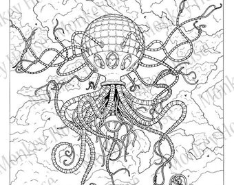 Science Fiction Pages For Adults Coloring Pages