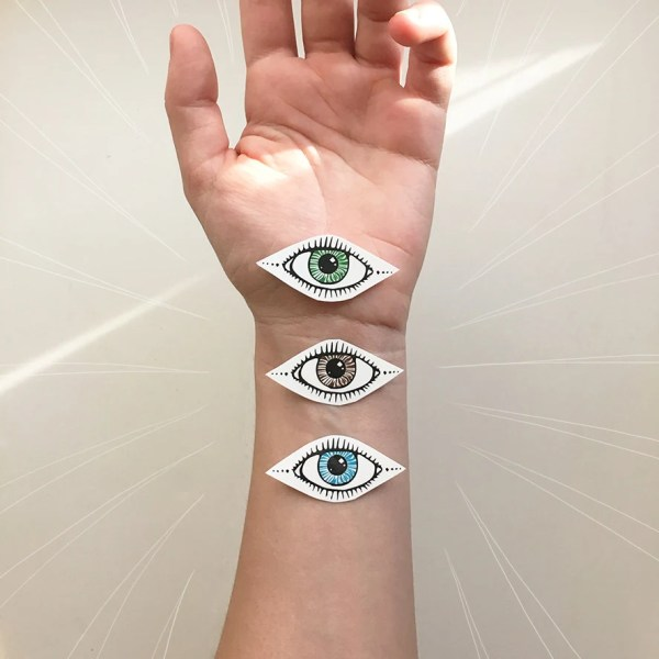 eye temporary tattoo collection