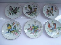 Vintage Plates Decorative Hanging Plates with Bird