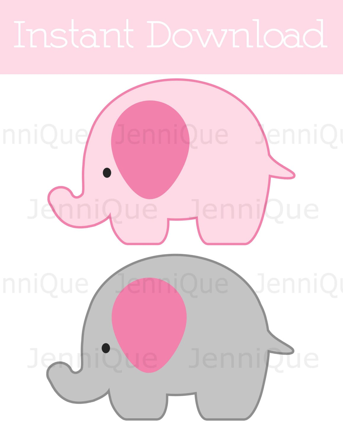 Printable Elephant Decorations Elephant Baby Shower