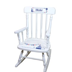 Toddler White Rocking Chair Covers For Less Childs Personalized Sailboat Baby
